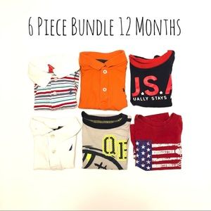 Other - Baby Boy's 6 Piece Bundle Lot of Shirts Size 12 M